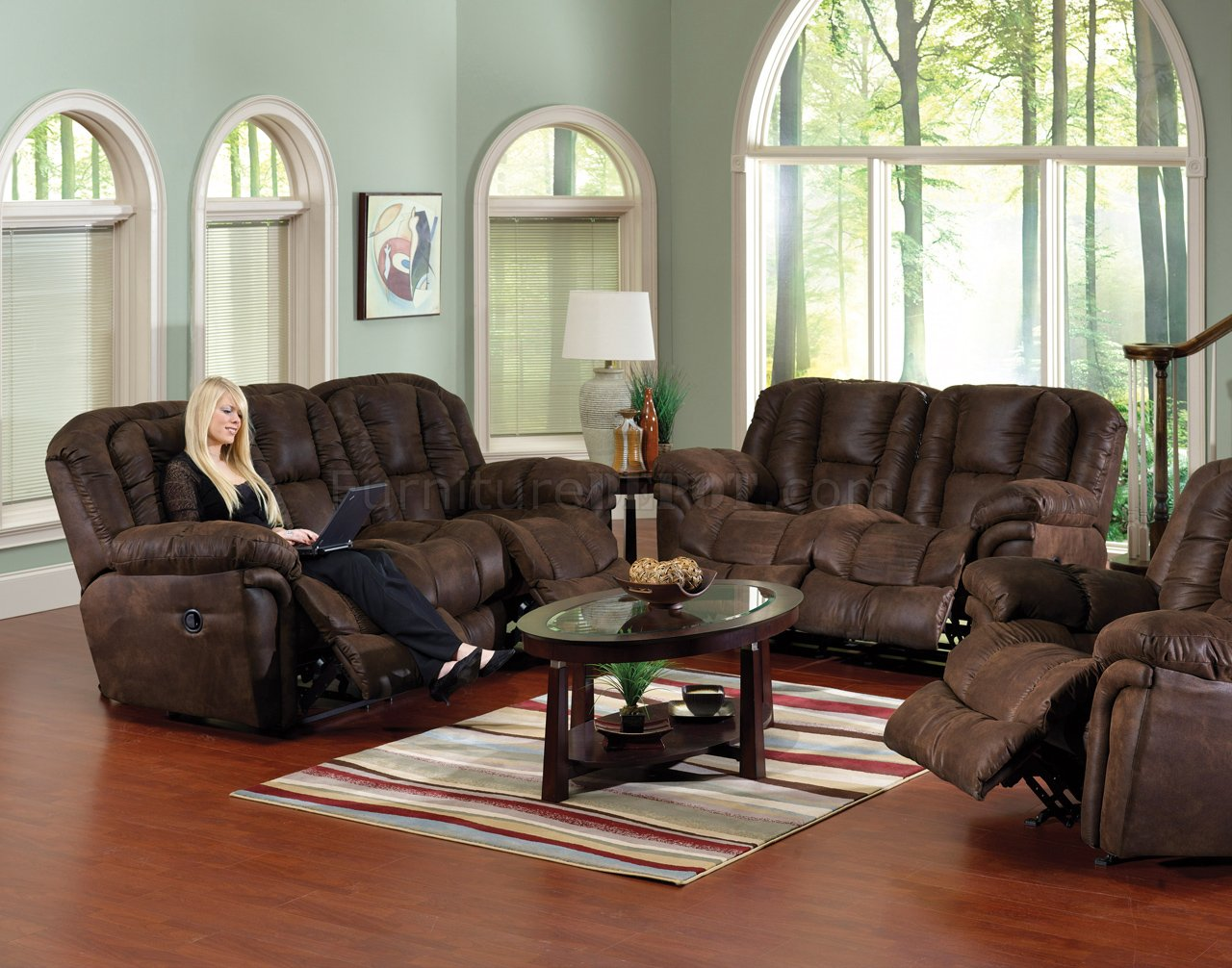 & Chocolate Faux Leather Contour Reclining Sofa u0026 Loveseat Set islam-shia.org