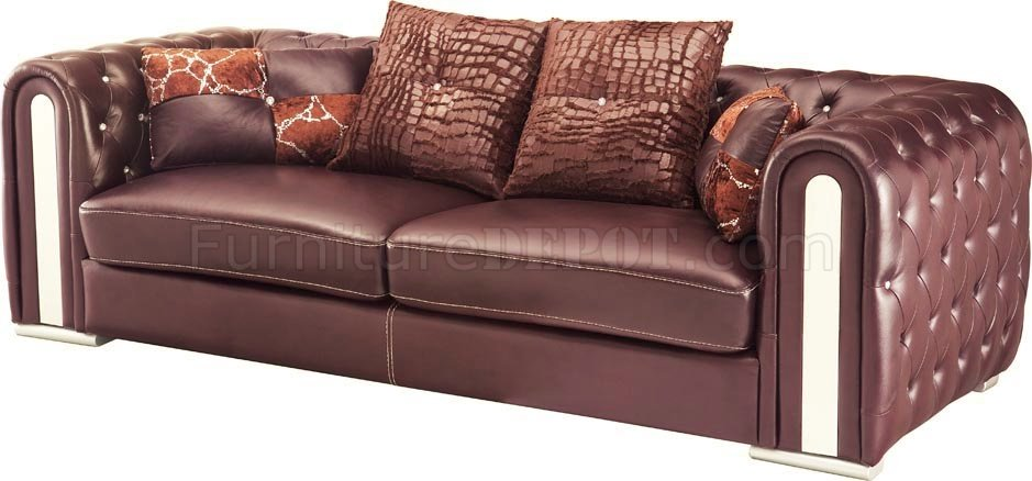 sofa in full genuine leather by esf woptions