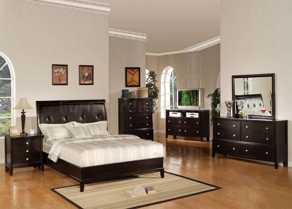 Bedroom Furniture Espresso 14300 oxford bedroom set in espresso finishacme