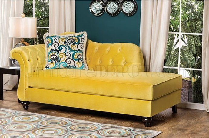 Antoinette Ii Sm2223 Sofa In Royal Yellow Fabric W Options
