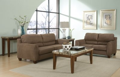 Living Room Pillows on Milk Chocolate Microfiber Modern Living Room W Soft Back Pillows