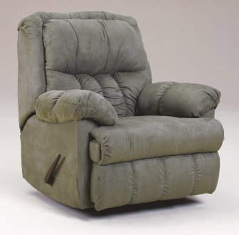 Sage Plush Microfiber Contemporary Rocker Recliner