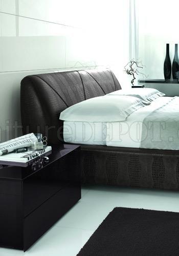 Modern Bedroom Set Strip Gl01 Dark Brown