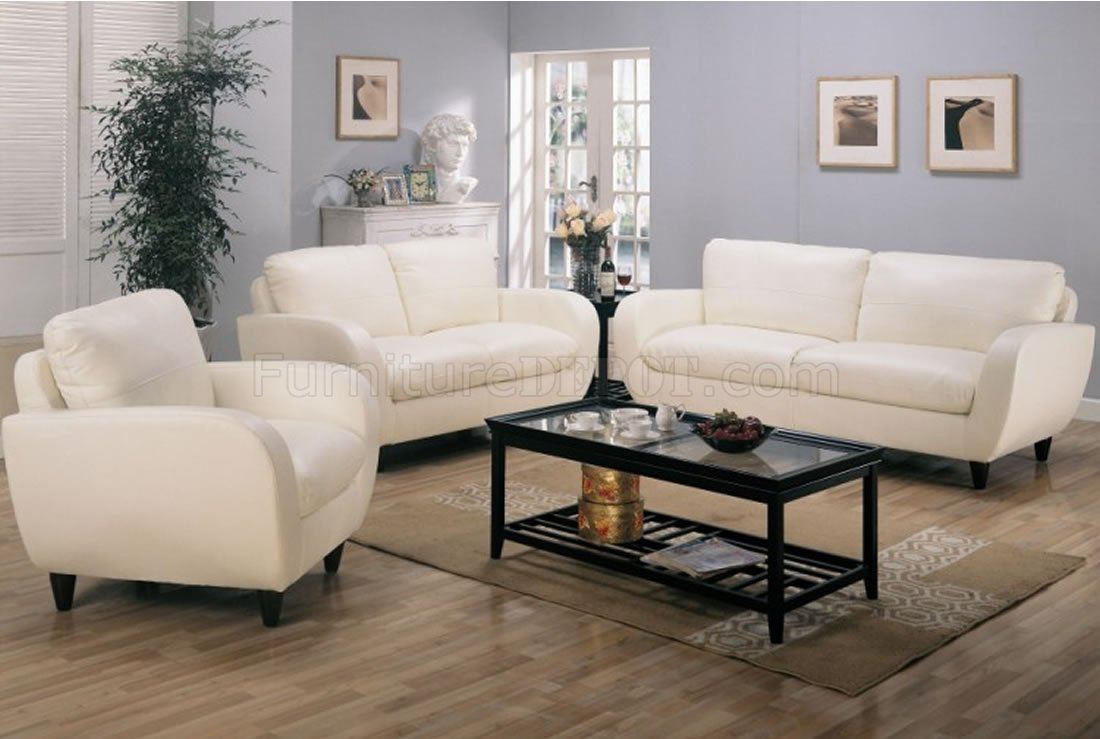 Retro Living Room Chairs Retro Style Leather Living Room 502391 White