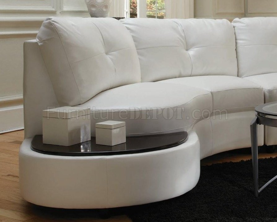 Astounding Talia Sectional Sofa 503431 White Bonded Leather Match Coaster Machost Co Dining Chair Design Ideas Machostcouk