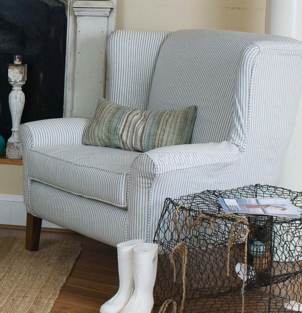 Blue And White Striped Sofa Thesofa