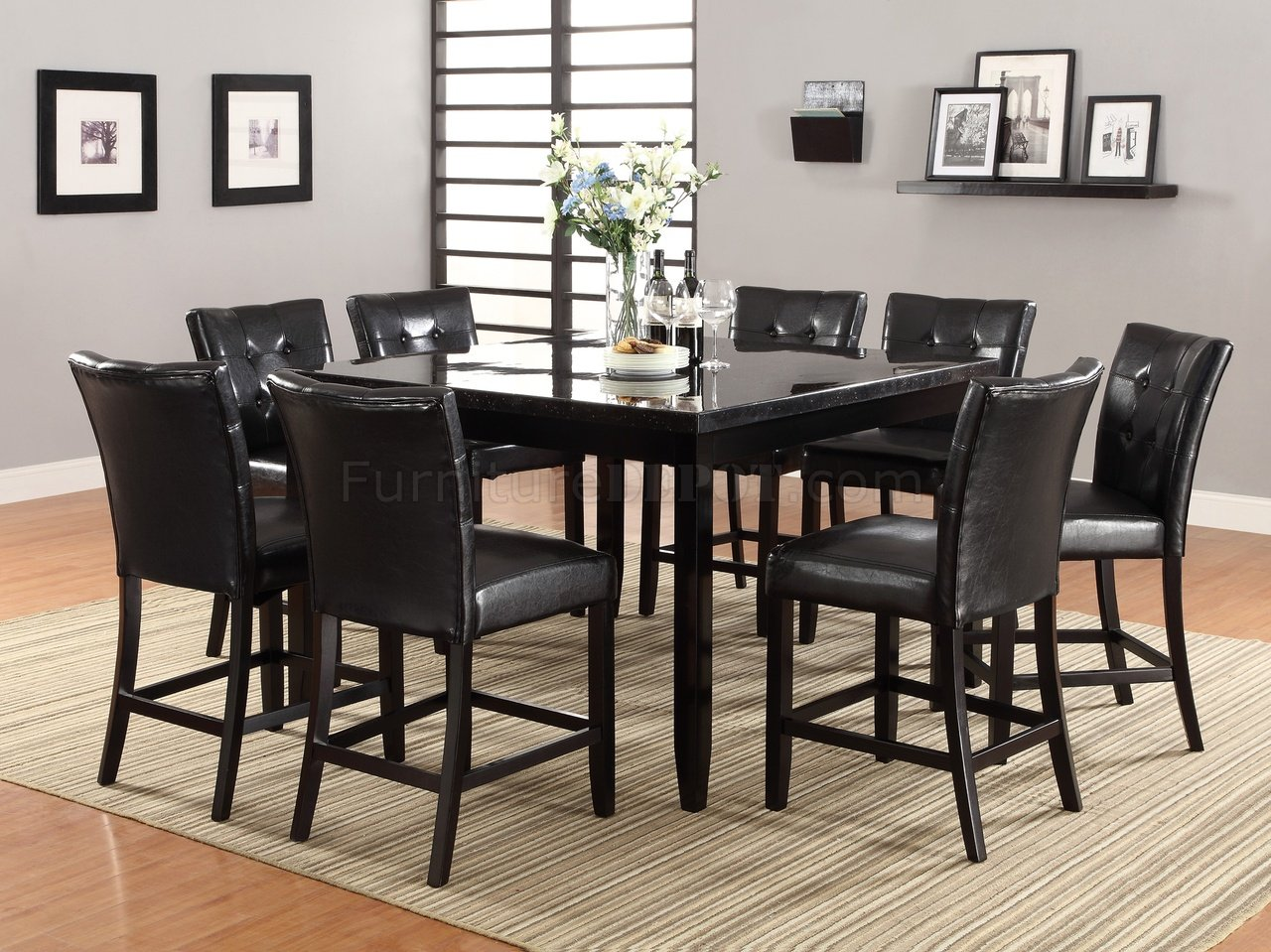 103628 Counter Height Dining Table By Coaster W Options
