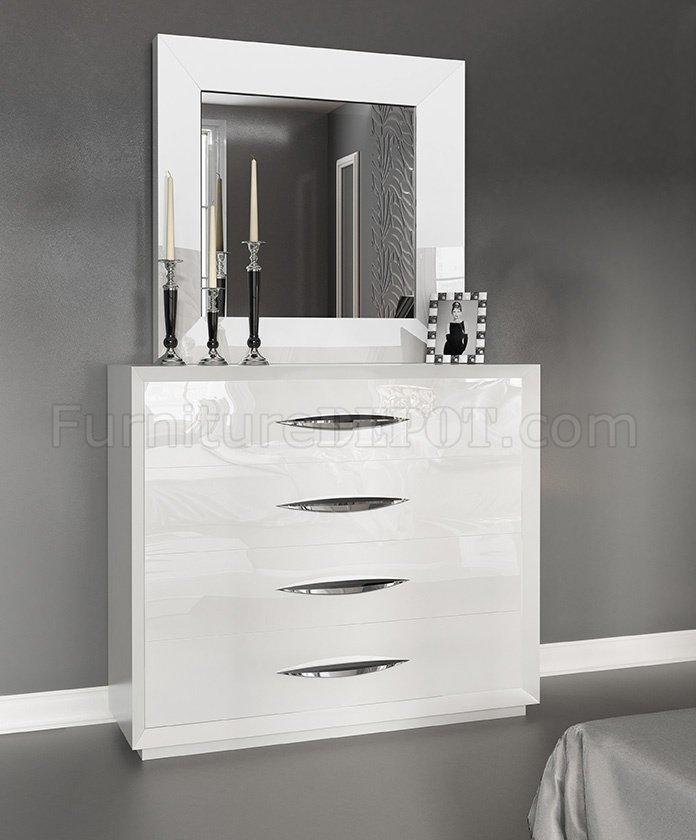 Carmen Bedroom By Esf In White W Optional Case Goods