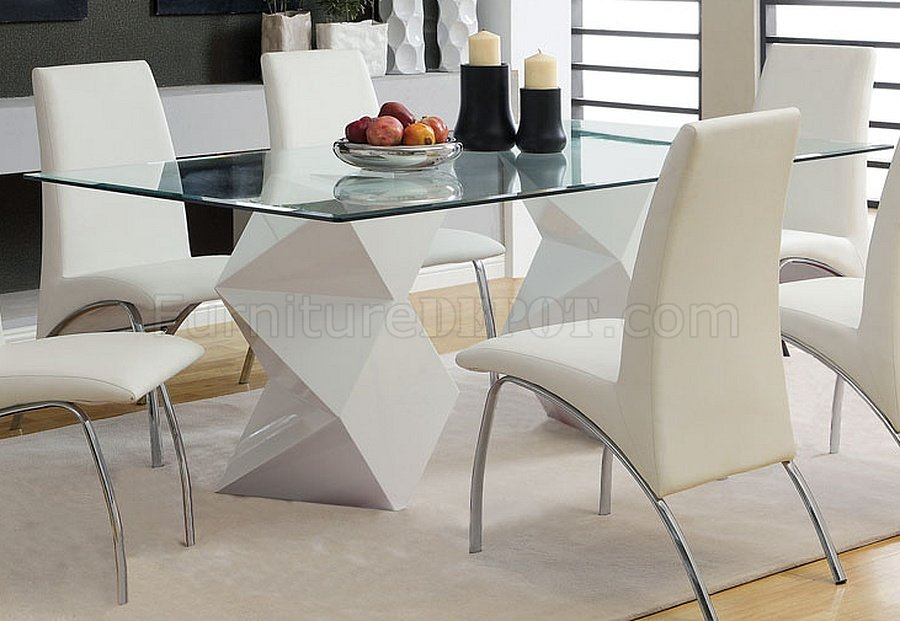 CM8335WH-T-72 Halava I Dining Table In White W/Optional Chairs