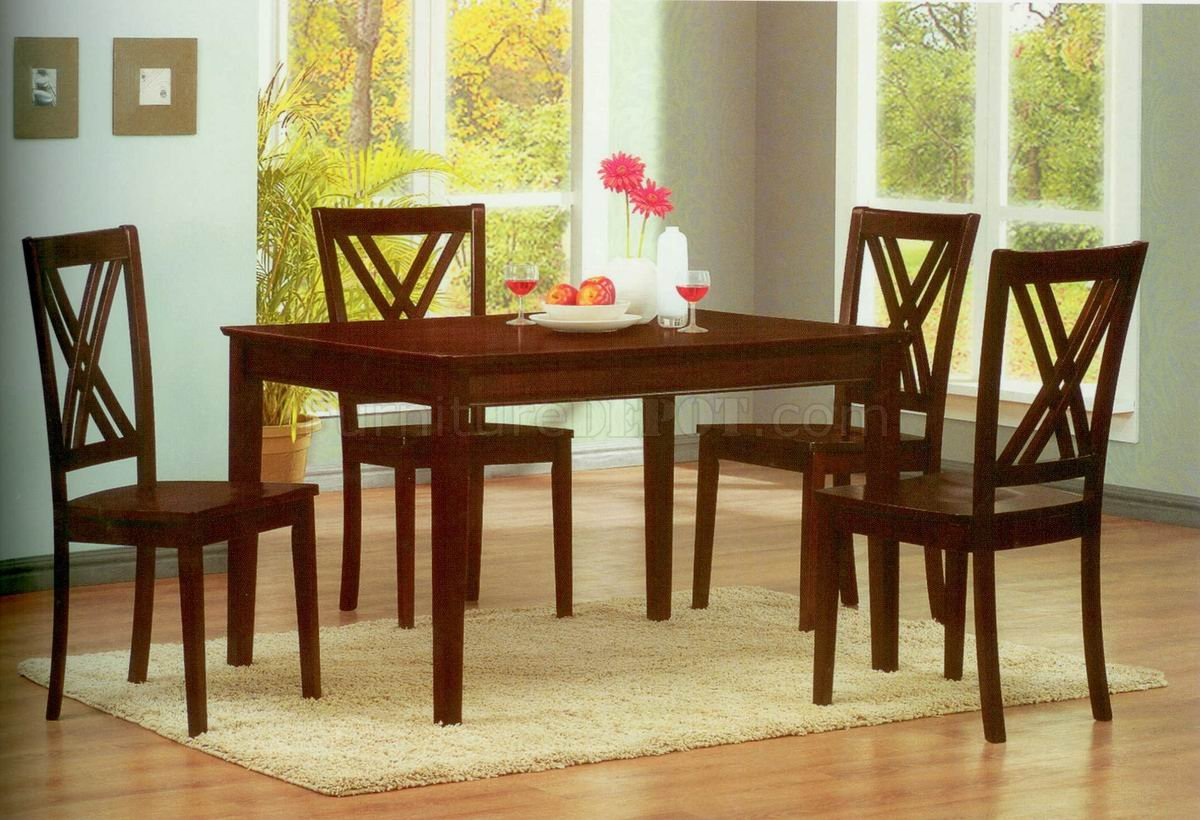 Espresso Finish Modern Dining Table W/Optional Side Chairs
