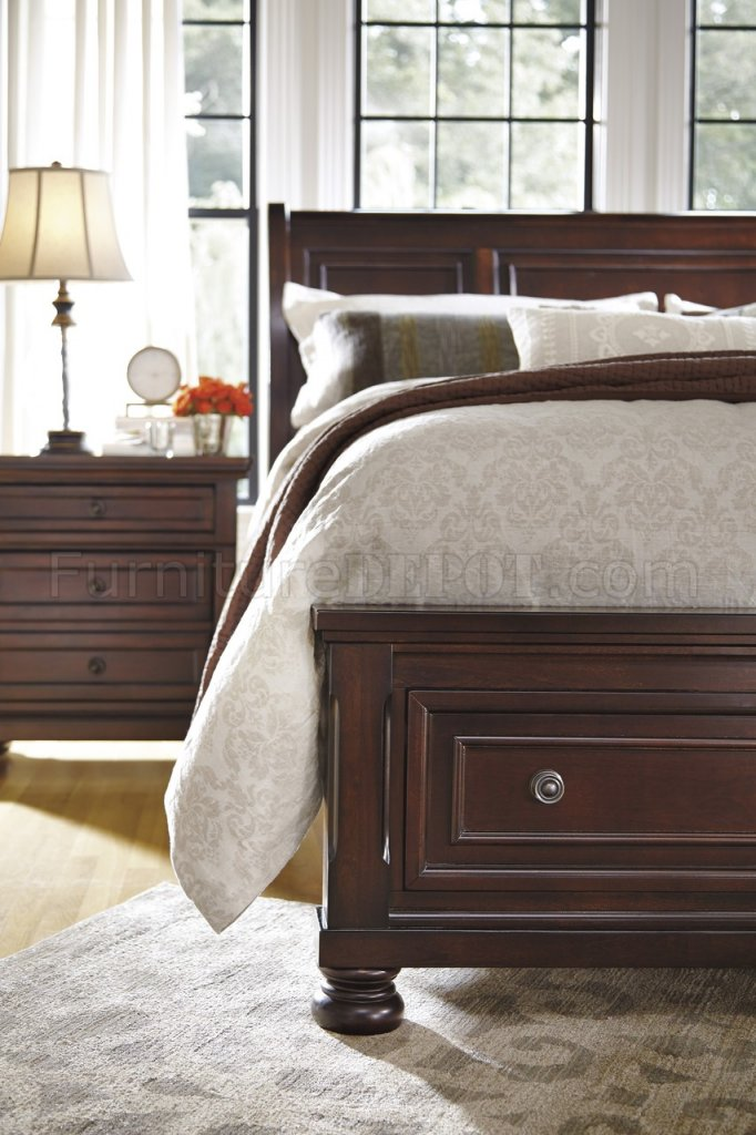 Bedroom B697 in Burnished Brown w/Storage Bed by Ashley