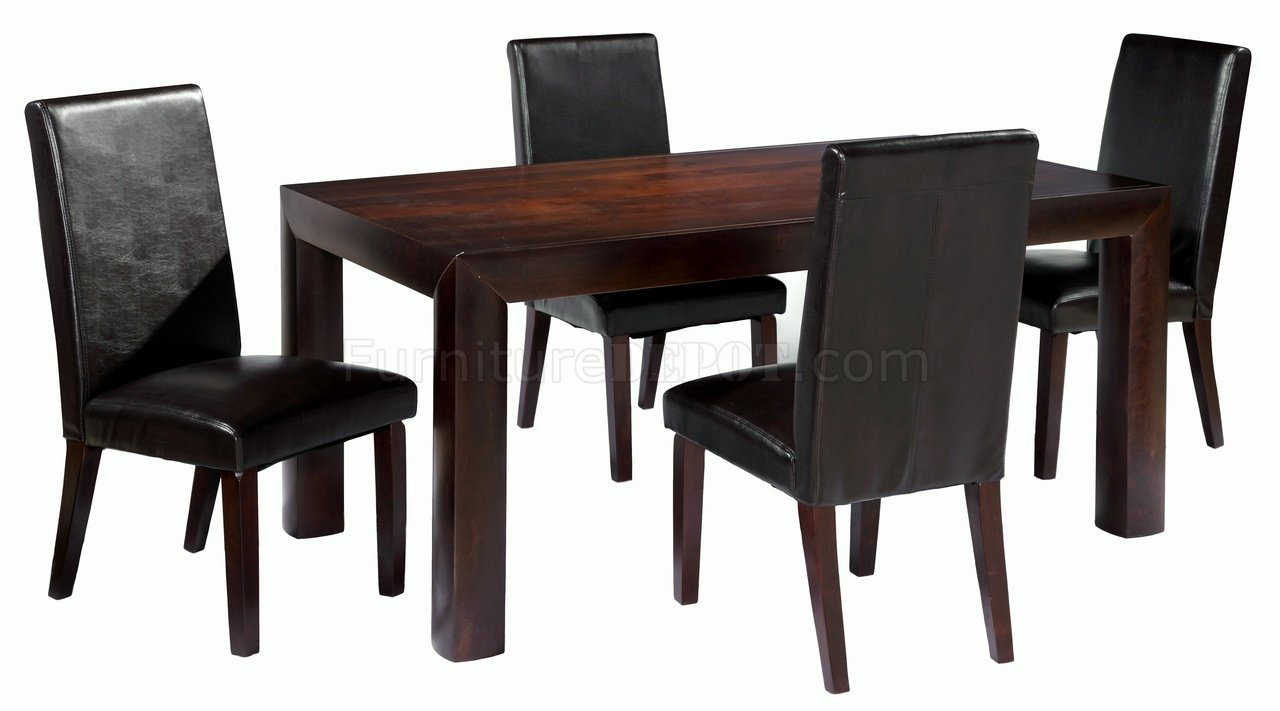 merlot birch veneer top modern dining table w optional items cyds mia