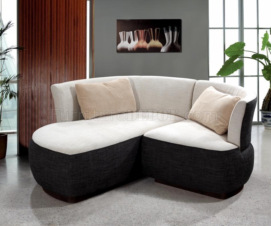 Two Tone Fabric Modern Elegant Sectional Sofa
