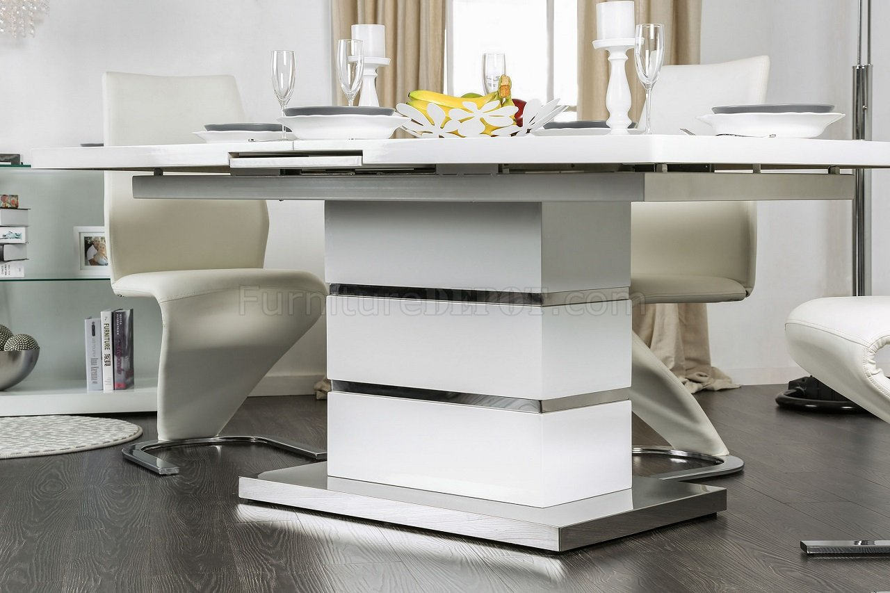 Midvale Cm3650t Dining Table In White Finish W Options