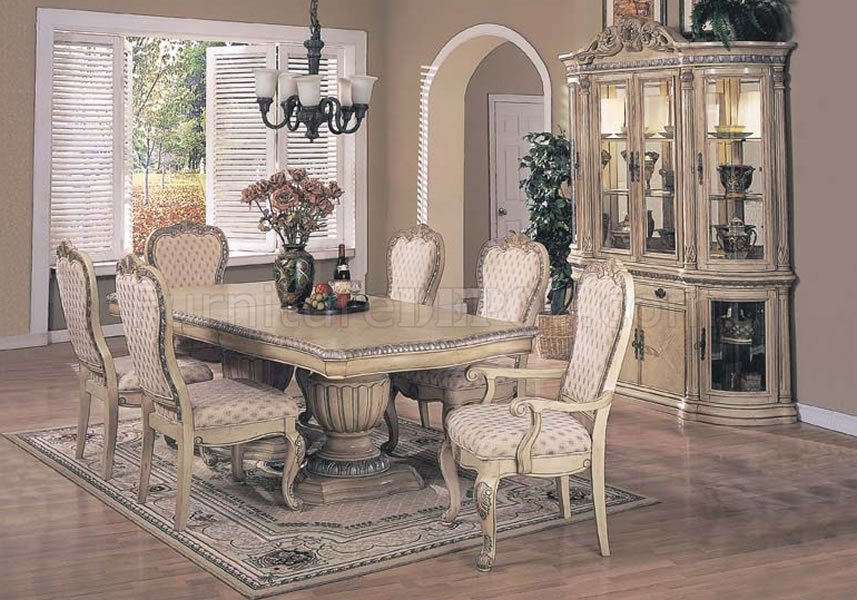 Antique White Finish Contemporary Dining Set Interesting Antique White Dining Room
