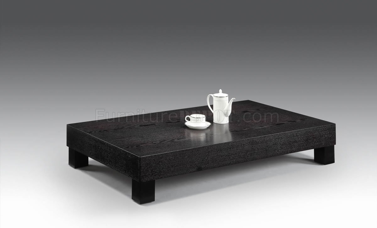 wenge low base modern coffee table