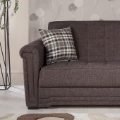 Kubo Sectional Sofa In Andre Dark Brown Fabric By Sunset