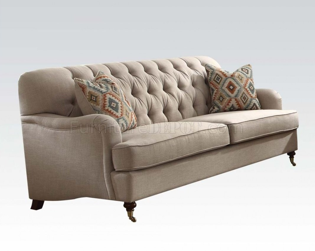 Alianza 52580 Sofa In Beige Fabric By Acme W Options