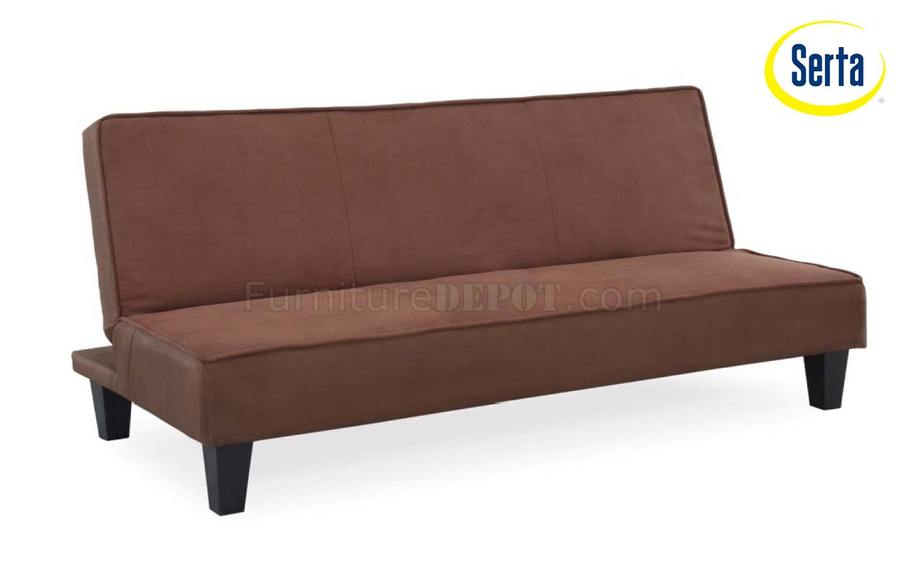 Cocoa Fabric Modern Elegant Sofa Bed Convertible