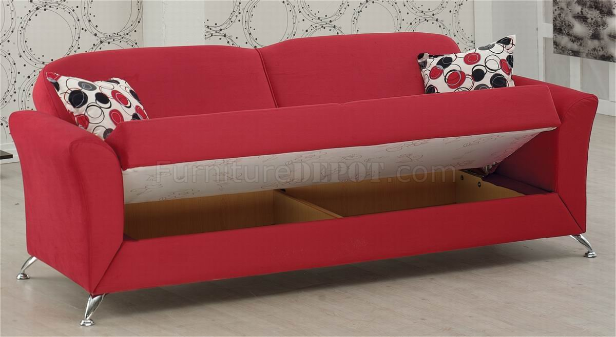 Fabric Modern Convertible Sofa Bed w Optional Items