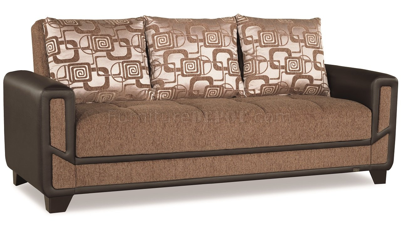 mondo sofa bed convertible in brown fabric by casamode w. Black Bedroom Furniture Sets. Home Design Ideas