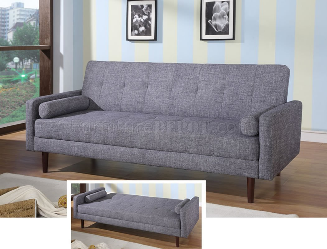 modern fabric sofa bed convertible kk18 grey. Black Bedroom Furniture Sets. Home Design Ideas