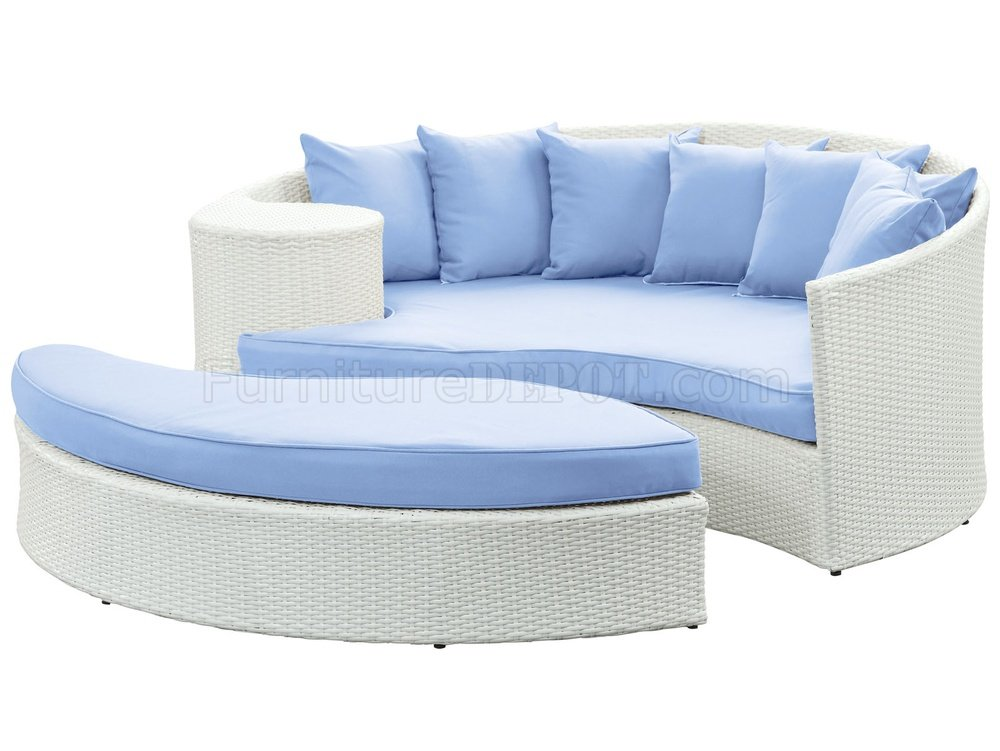 Taiji Outdoor Wicker Patio Daybed Set Choice Of Color By