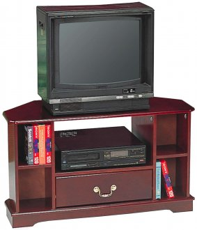 Cherry Finish Traditional Tv Stand W Drawer Amp Shelves