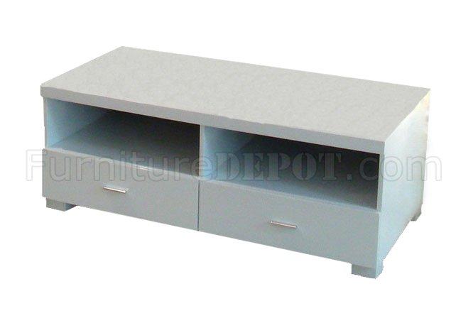 white finish modern tv stand w storage drawers shelf. Black Bedroom Furniture Sets. Home Design Ideas