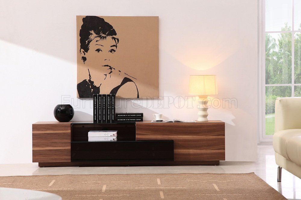 Strange Light Walnut Finish Modern Elegant Tv Stand Gmtry Best Dining Table And Chair Ideas Images Gmtryco