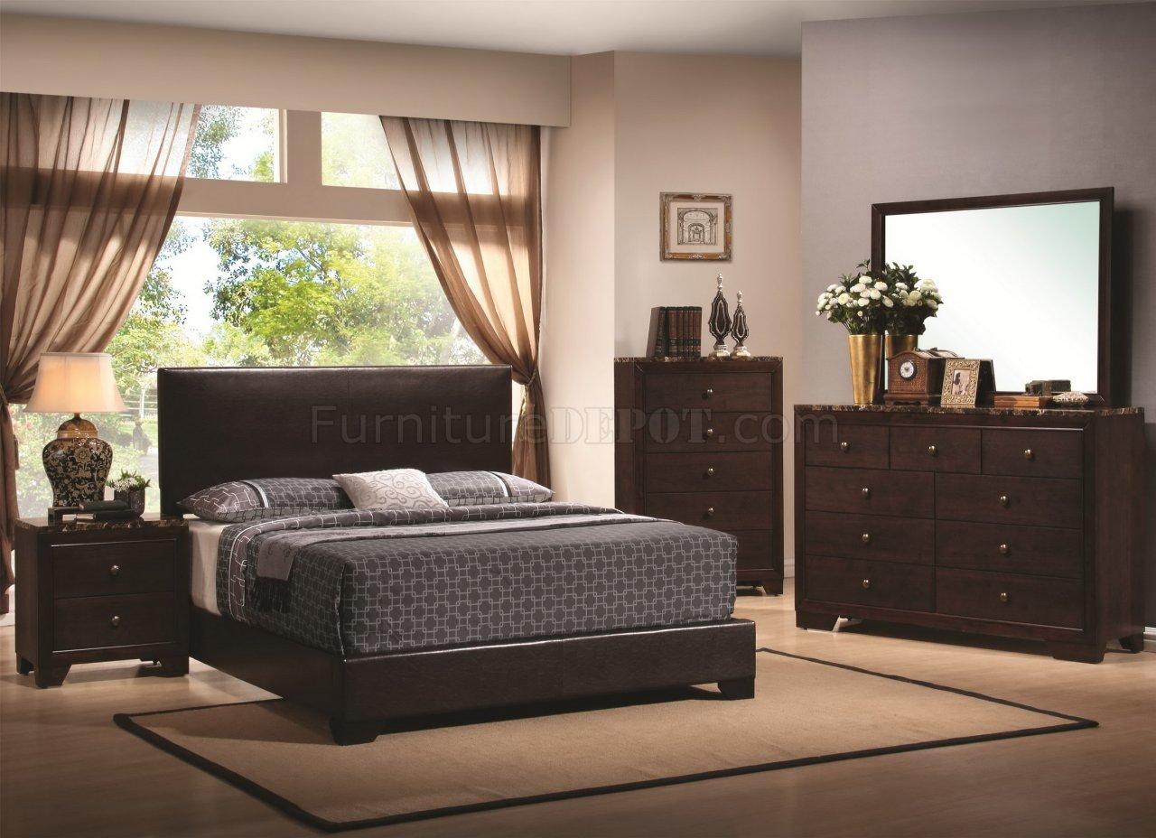 dark walnut finish modern bedroom w optional casegoods crbs 300261