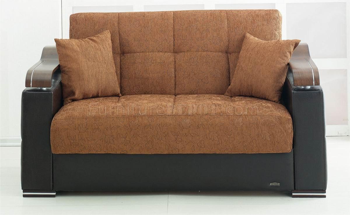 Brown Fabric Amp Black Vinyl Modern Sofa Bed W Options