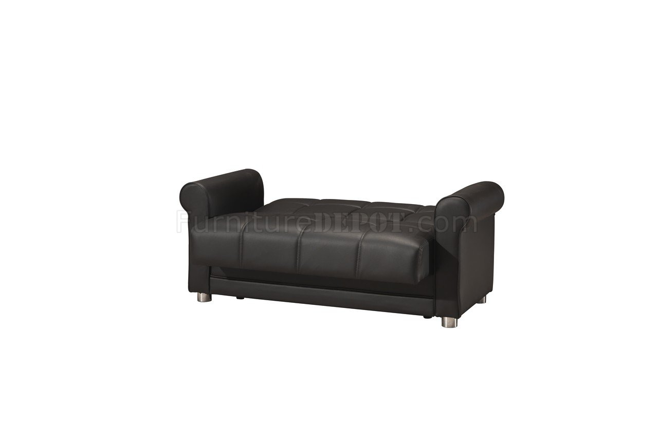 Avalon zen black sofa bed in leatherettte by casamode w for Zen sofa bed