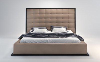 Ludlow Bed In Taupe Amp Wenge By Modloft W Oversized Headboard