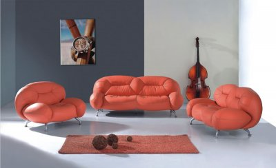 Modern Swivel Chairs  Living Room on Modern Curvy Living Room Set At Furniture Depot