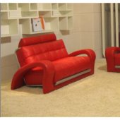 Bentley Red Bonded Leather 3Pc Sofa Set by VIG