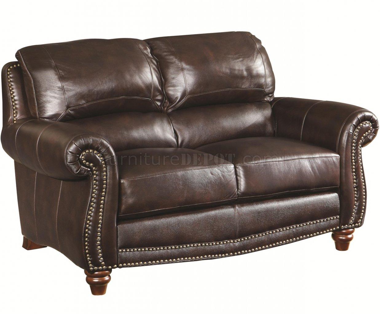 Lockhart Sofa Amp Loveseat 504691 In Burgundy Leather By Coaster