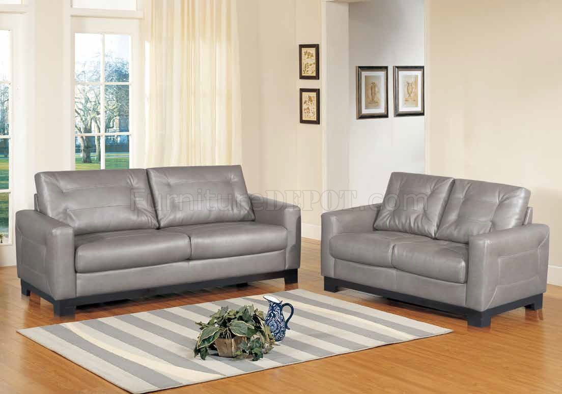 Corey Sofa In Grey Bonded Leather W Optional Loveseat Amp Chair