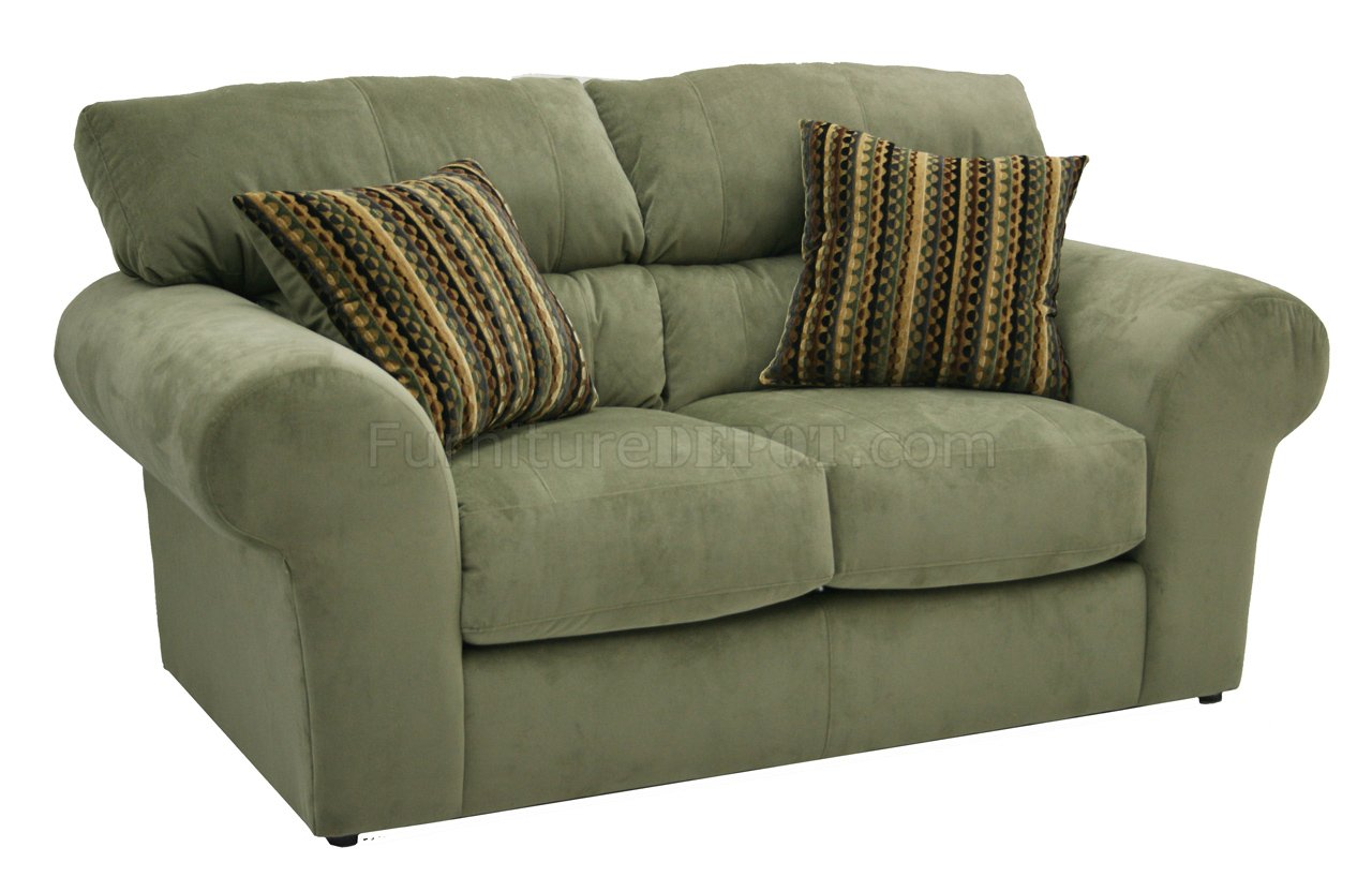 Sage Fabric Transitional Sofa Amp Loveseat Set W Options