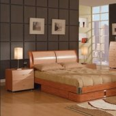 Two tone maple cherry contemporary tv stand - Contemporary maple bedroom furniture ...