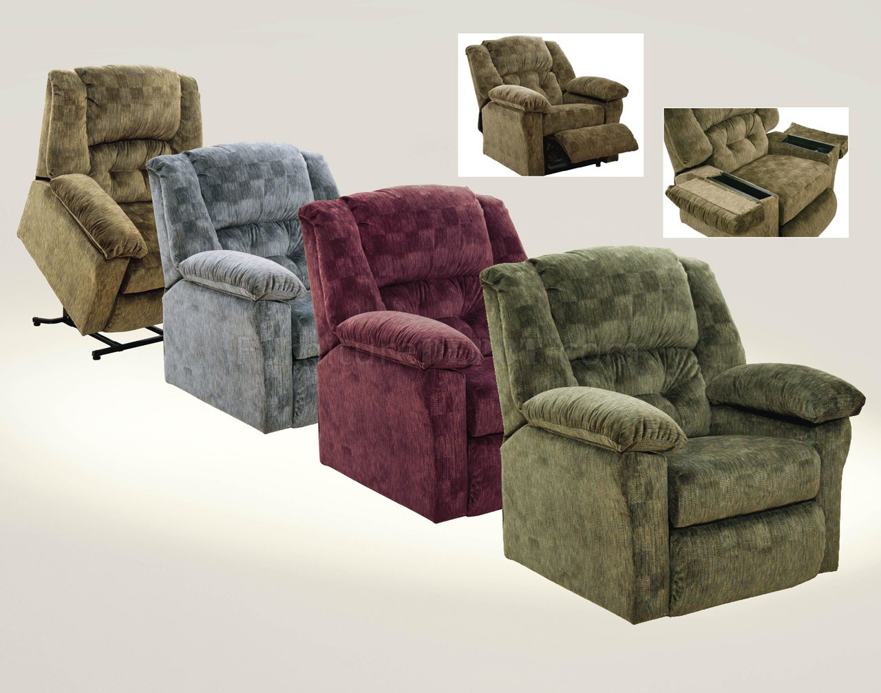 Choice Of Color Fabric Modern Wellington Power Lift Recliner