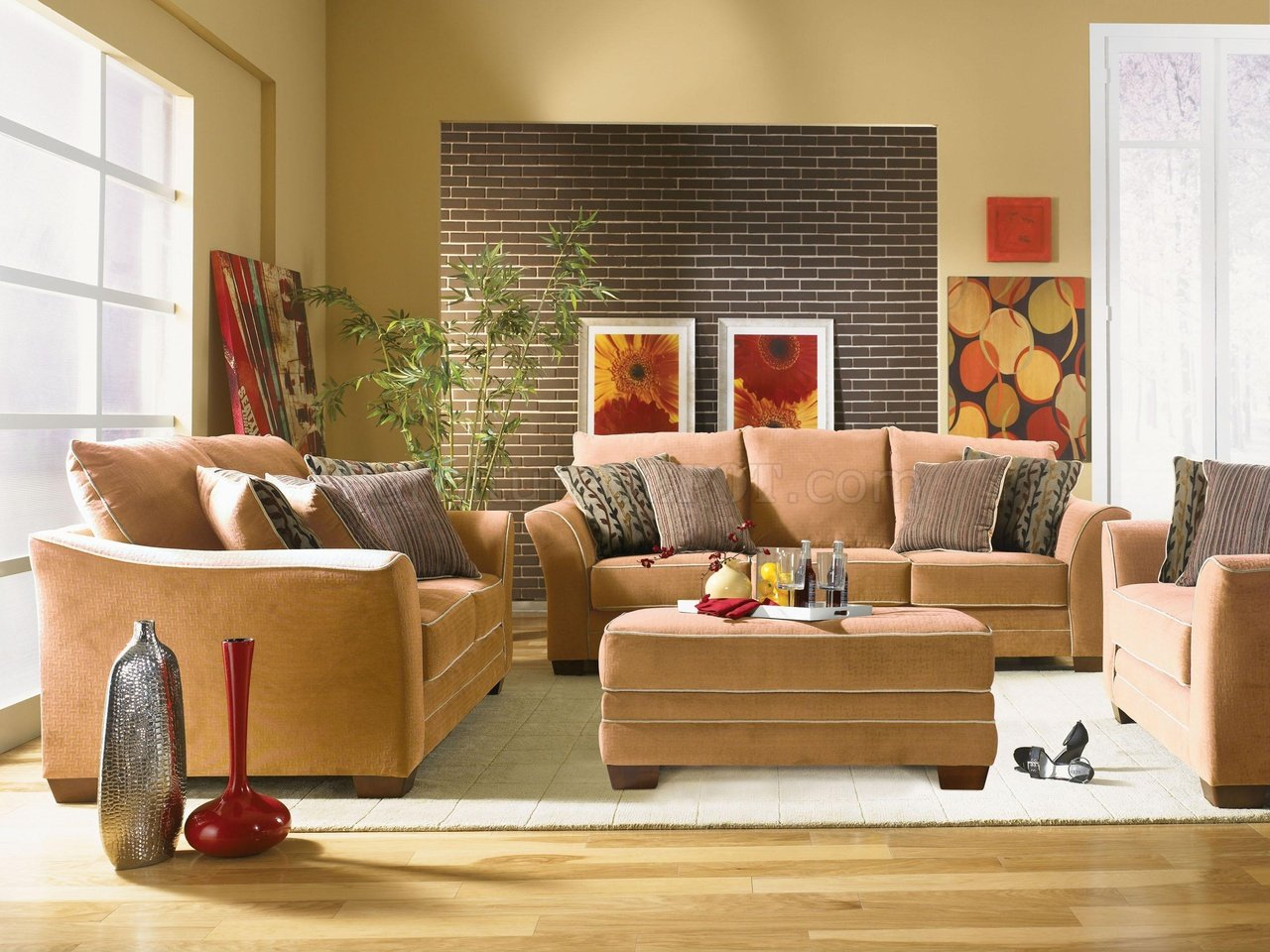 Desert fabric transitional living room opulence u203 for Modern decorative items for home