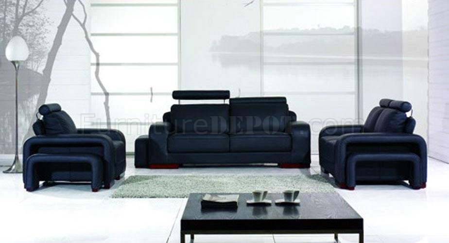 Astonishing Black Leather 3 Piece Modern Living Room Yi A32B Theyellowbook Wood Chair Design Ideas Theyellowbookinfo
