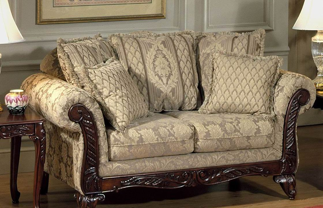 Beige Clarissa Carmel Fabric Traditional 2pc Sofa