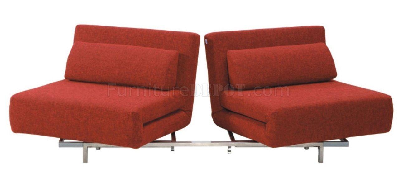 LK06-2 Sofa Bed in Black Fabric by J&M Furniture