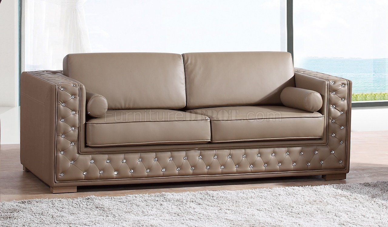 dyson sofa in light brown leather gel w options. Black Bedroom Furniture Sets. Home Design Ideas