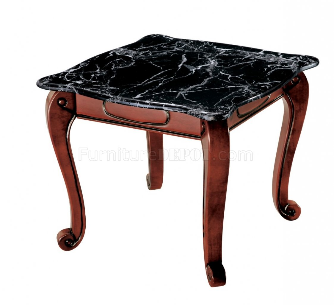 Bk81c Coffee Table W Black Faux Marble Top By American Eagle