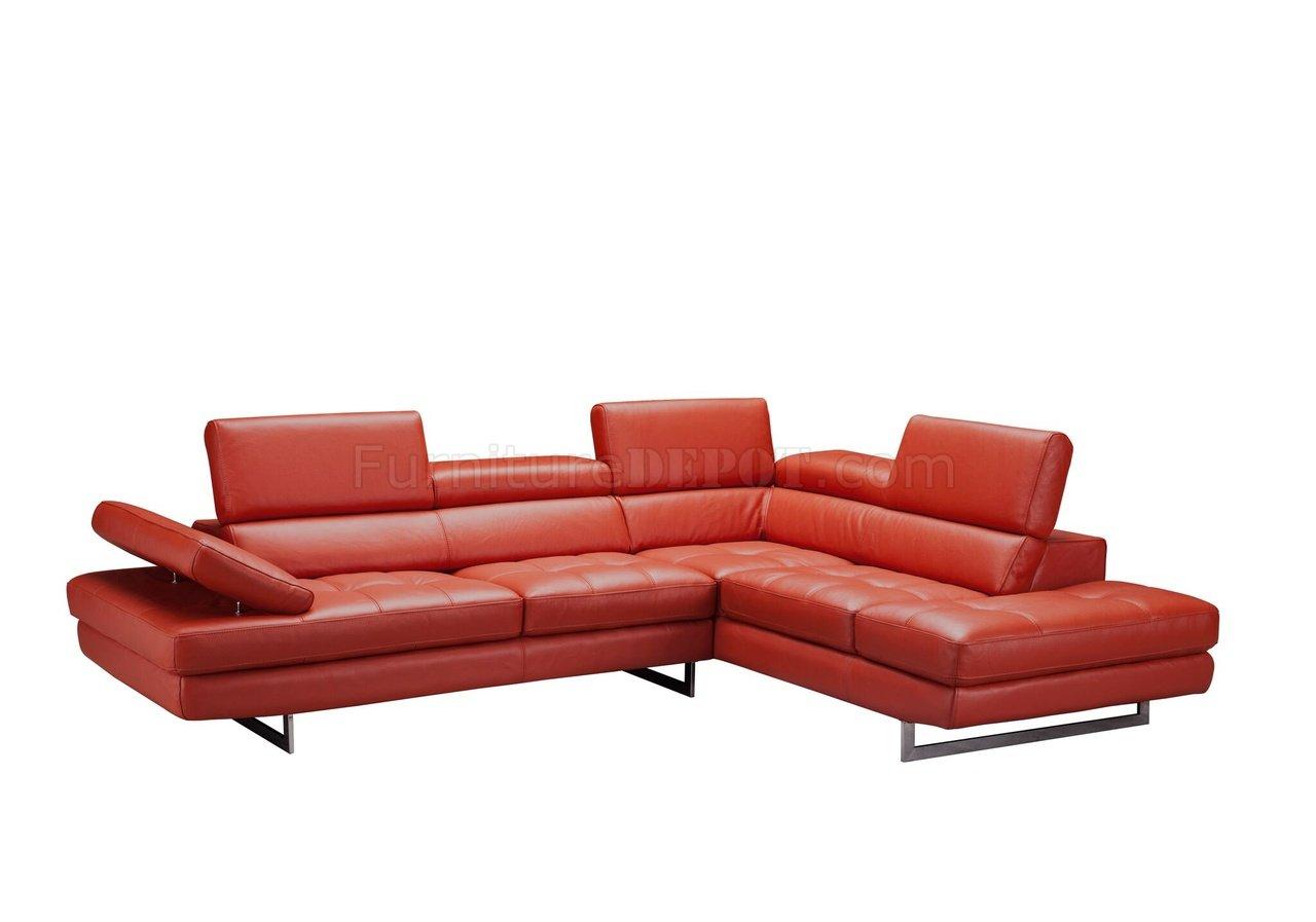 Venus Sectional Sofa in Dark Orange Leather by JampM : c1d5384688b5e660c72aff2468c57940image1280x897 from www.furnituredepot.com size 1280 x 897 jpeg 64kB