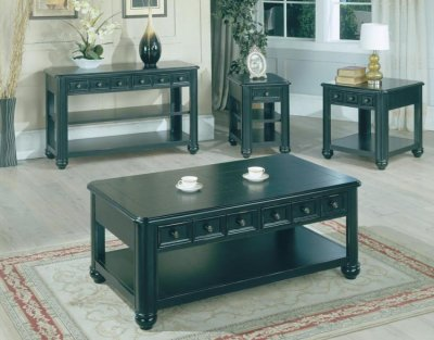 black coffee table transitional - photo #16