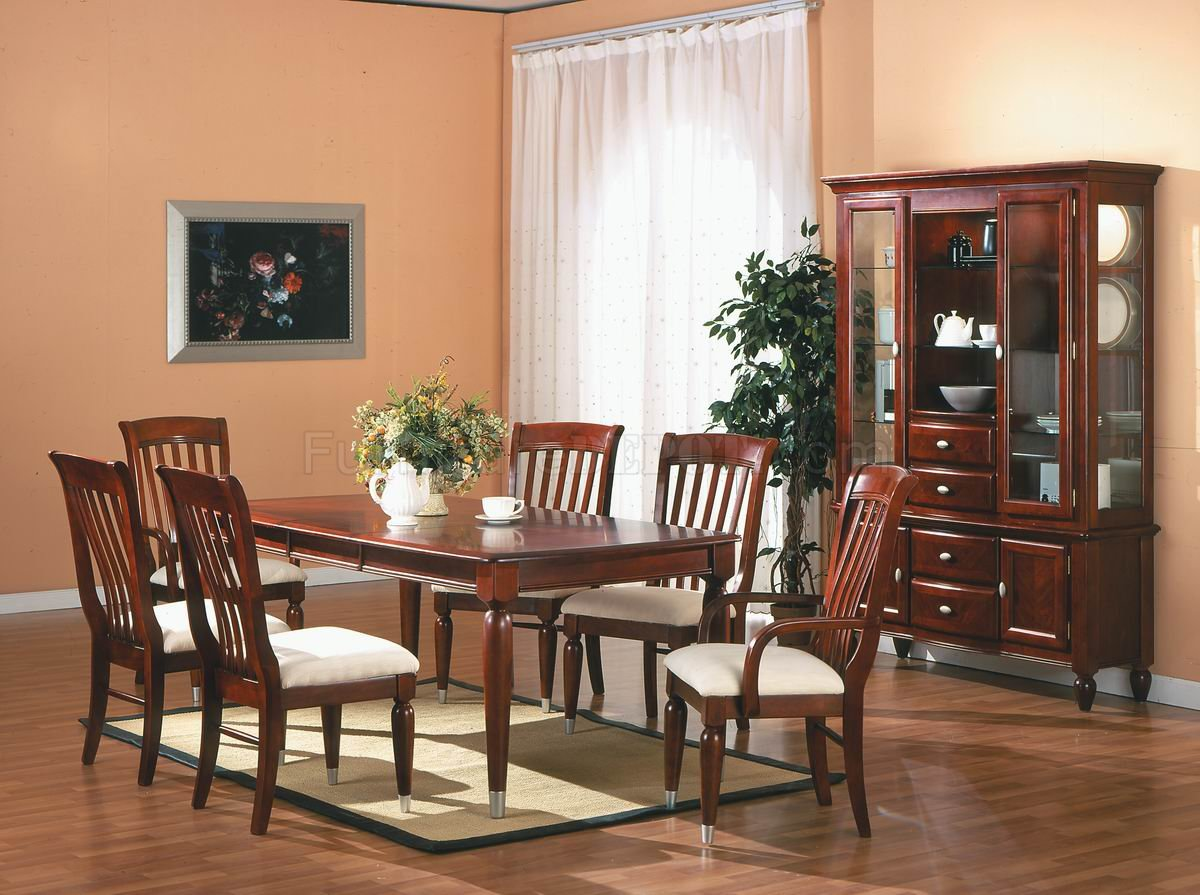 Cherry Finish Traditional 5Pc Dining Room Set wOptional Items : c2eb648e8c9c64277b00c623a293b95bimage1200x895 from www.furnituredepot.com size 1200 x 895 jpeg 172kB